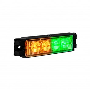 "NanoFlare 4"" 4W Light Head - Amber / Green"