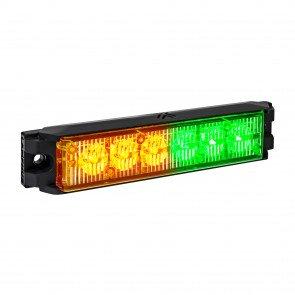"NanoFlare 5.25"" 6W Light Head - Amber / Green"