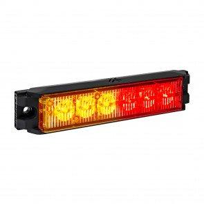 "NanoFlare 5.25"" 6W Light Head - Amber / Red"