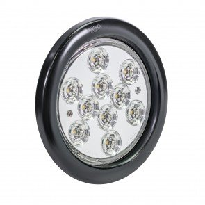 "4"" 10-LED Round Tail Light - White"