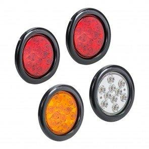 "4pc 4"" 10-LED Round Tail Light"