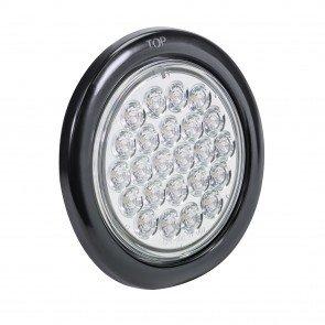 "4"" 24-LED Round Tail Light - White"