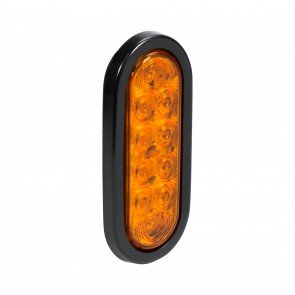 "6"" 10-LED Oval Tail Light - Amber"