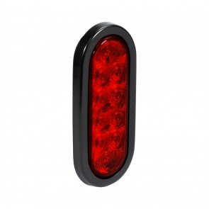 """6"""" 10-LED Oval Tail Light - Red"""