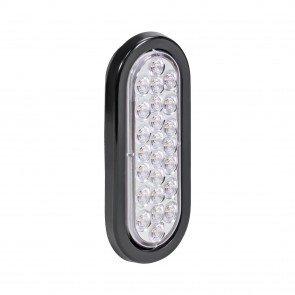"6"" 24-LED Oval Tail Light - White"