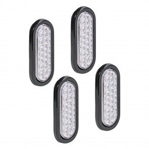 "4pc 6"" 24-LED Oval Tail Light - White"