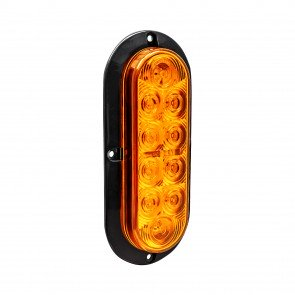 """6"""" 10-LED Oval Surface Mount Tail Light - Amber"""