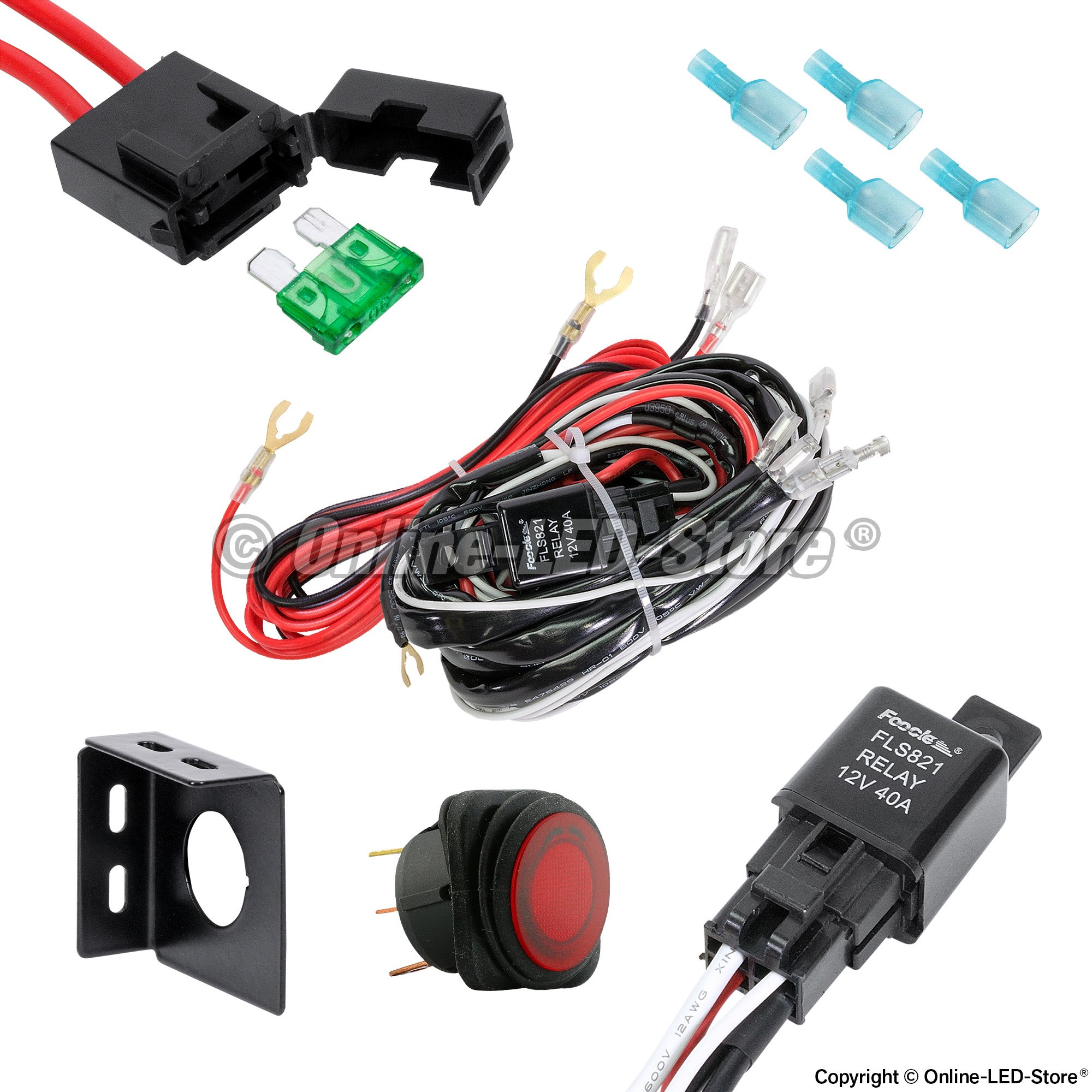 ford wiring harness kits off-road led light bar wiring harness | off-road light ... off road wiring harness kits