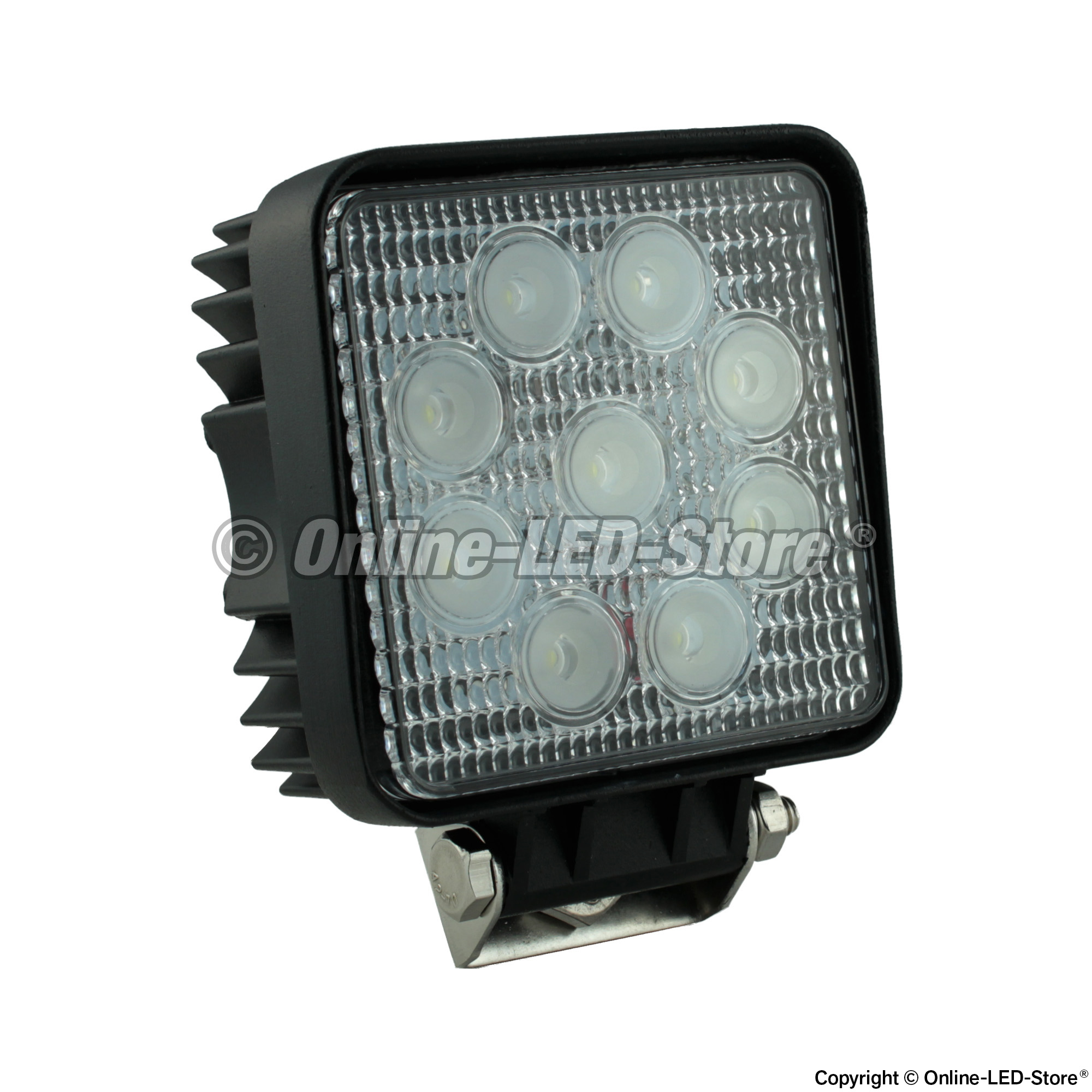 Utility work lights for commercial construction vehicles square 27w led utility work light flood aloadofball Images