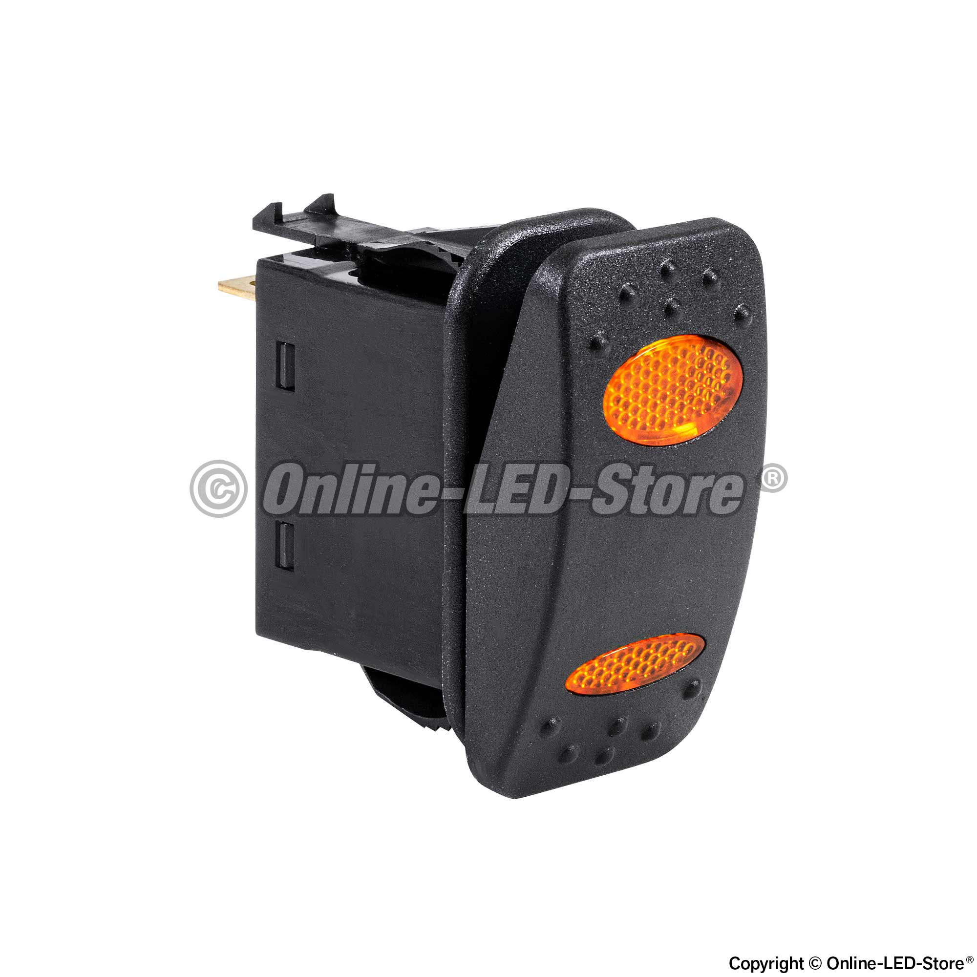 Waterproof Rocker Switch Spdt Spst X2 With Red Green Indicator Lamps