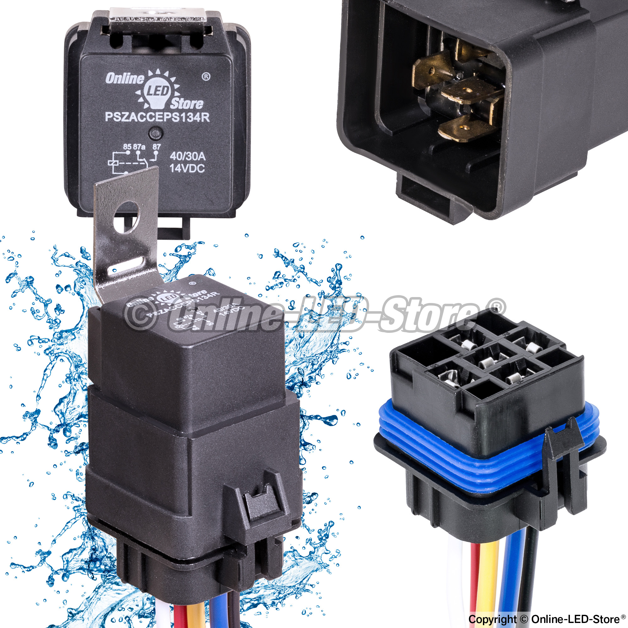 Sealed Fuse Relay Box Circuit Wiring And Diagram Hub Waterproof Ols 12v 40 30 Amp 5 Pin Spdt Bosch Style Under Dash
