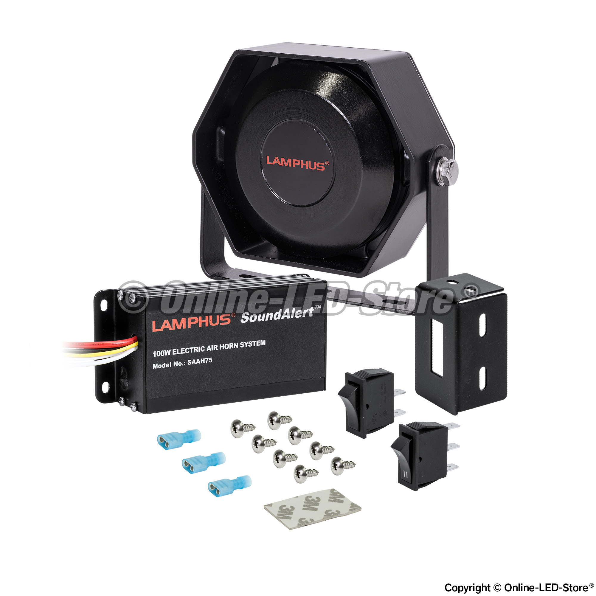 Electronic Air Horn Kit Electronic Horns Online Led Store