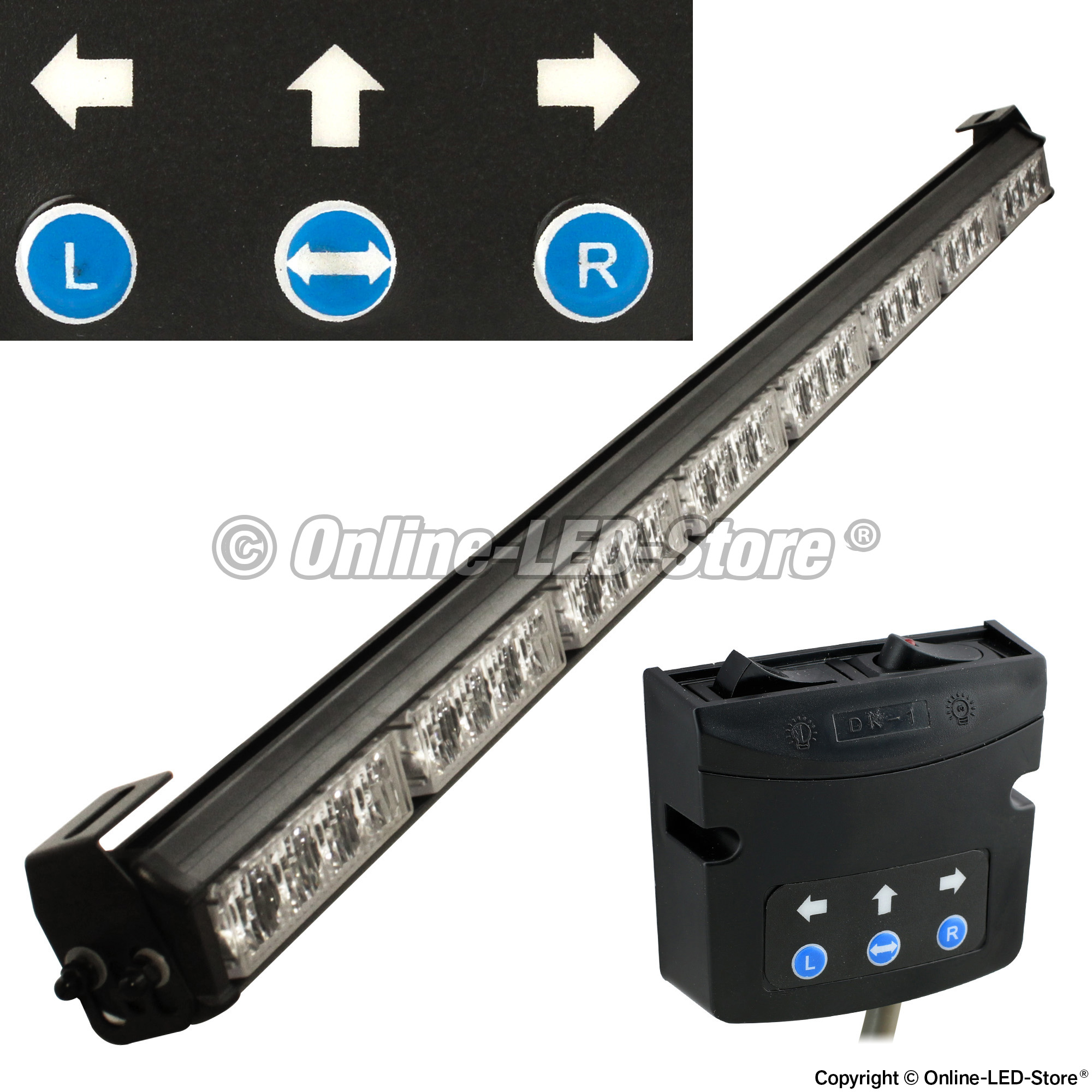 Traffic advisor light bar strobe light bars for Acquisto led online