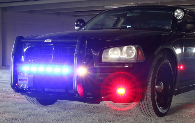 police lights on 2009 charger