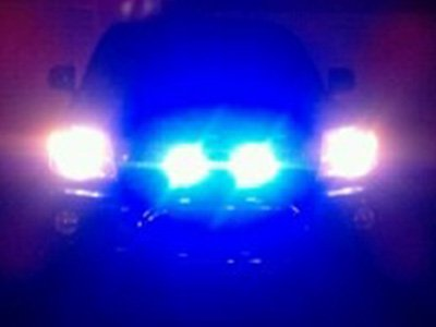 Truck Blue Grille Light at Night Shawn Carnahan